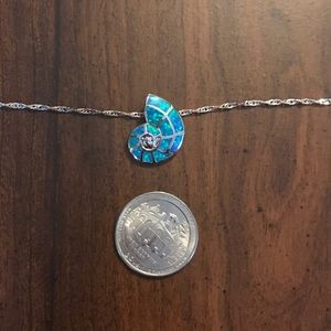 Jewelry - Silver Blue Shell Necklace